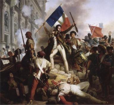 Combat pour l'hôtel de ville de paris le 28 juillet 1830